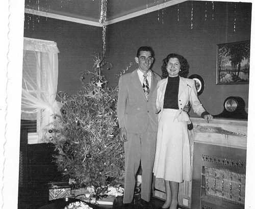My grandparents the day they were married/the last day I posted on this blog.